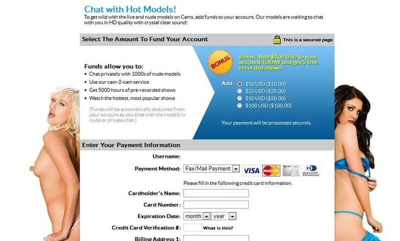 Payments on MILF porn chat rooms