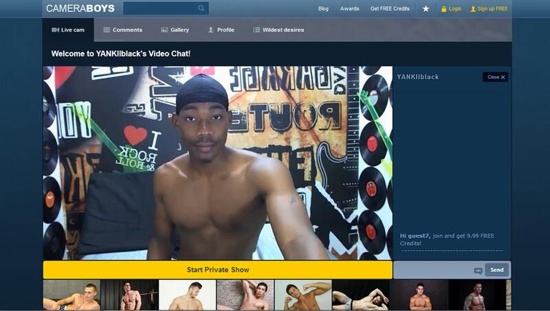 A black guy with a great body on webcam