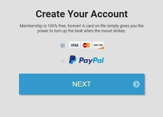 This is the step in registration for a free premium account where a credit card is required.